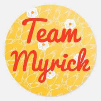 Team Myrick Round Sticker
