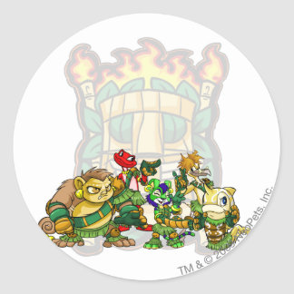 Team Mystery Island Group Classic Round Sticker