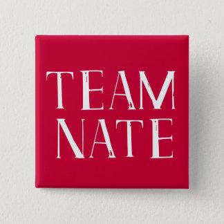 Team Nate 15 Cm Square Badge