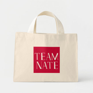 Team Nate tote Canvas Bag