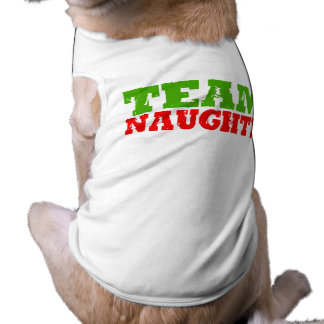 TEAM NAUGHTY -.png Sleeveless Dog Shirt