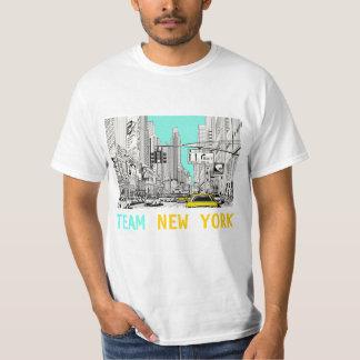 Team New York retro art tshirt