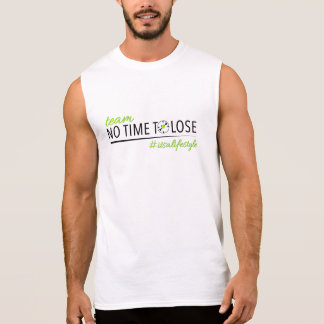 Team No Time To Lose Mens Cotton Sleeveless Sleeveless Shirt