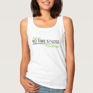 Team No Time To Lose Womens White Basic Tank Top