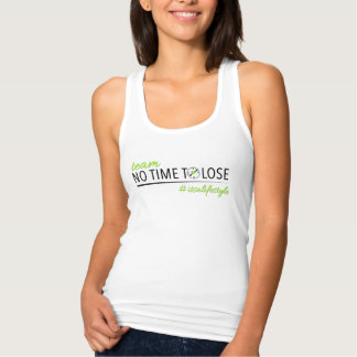 Team No Time To Lose Womens White Slim Fit Tank