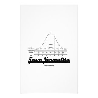 Team Normality (Bell Curve Statistics Humor) Stationery