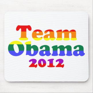 Team Obama Gay Pride Rainbow Mousepads