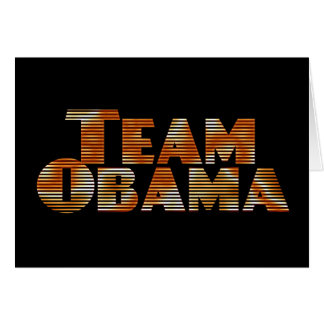Team Obama Greeting Card