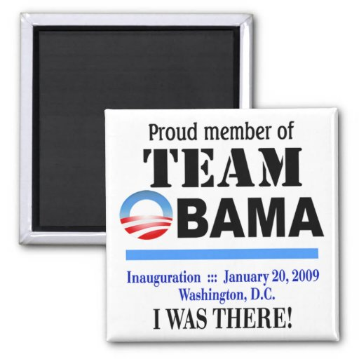 Team Obama - I Was There Magnet (white)