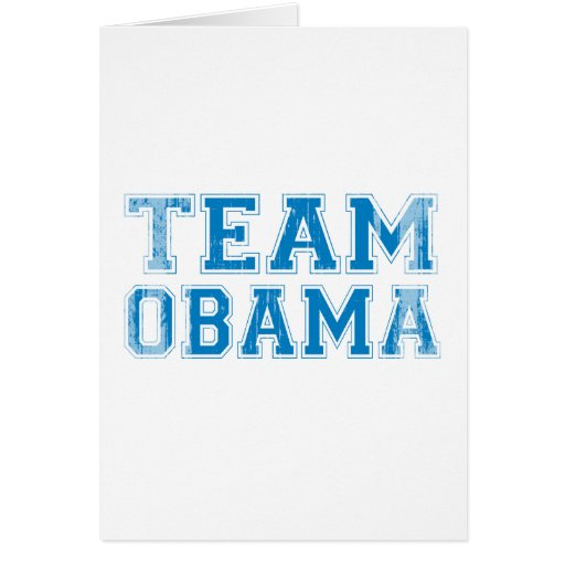 TEAM OBAMA RED AND BLUE - Vintage.png Greeting Card