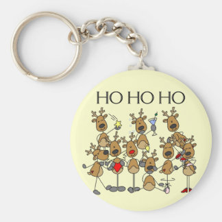 Team of Reindeer Tshirts and Gifts Key Ring