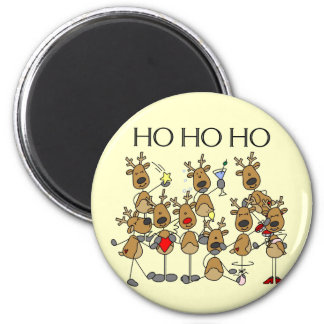 Team of Reindeer Tshirts and Gifts Magnets