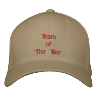 Team     of The Year Embroidered Baseball Cap