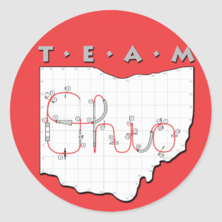 Team Ohio Agility Classic Round Sticker