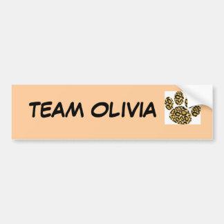 Team OLIVIA bumper sticker Car Bumper Sticker