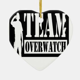 Team Overwatch Ceramic Heart Decoration
