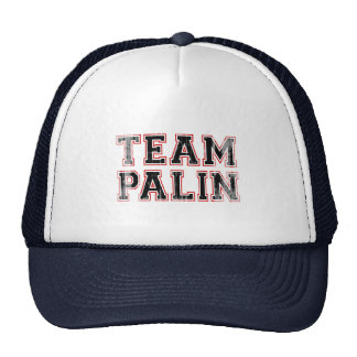 TEAM PALIN Collegiate black red Faded png Mesh Hat