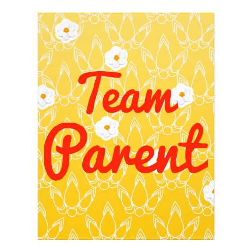 Team Parent Personalized Flyer