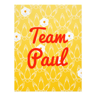 Team Paul Flyer