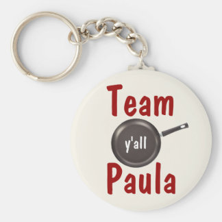 Team Paula - Y'all Basic Round Button Key Ring
