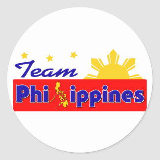 Team Philippines Classic Round Sticker