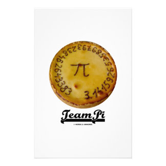 Team Pi Pi On A Baked Pie Math Humor Stationery