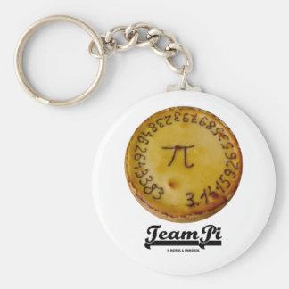 Team Pi (Pi / Pie Mathematical Constant Atttude) Basic Round Button Key Ring