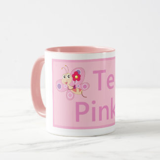Team Pink Breast Cancer Awareness pink ribbon mugs