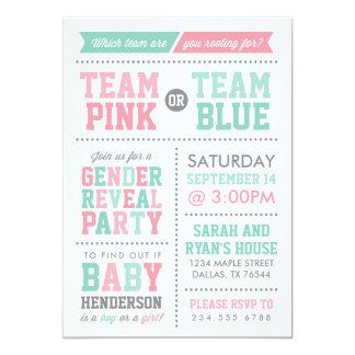 Team Pink or Team Blue Baby Gender Reveal Card
