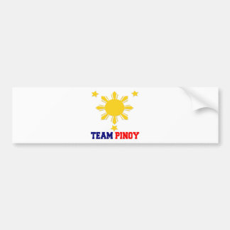 Team Pinoy 3 stars and a Sun Bumper Sticker