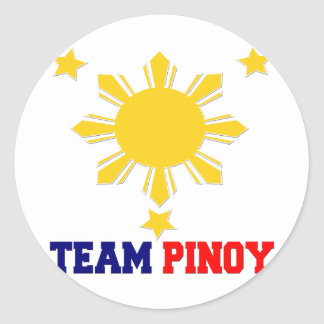 Team Pinoy 3 stars and a Sun Classic Round Sticker