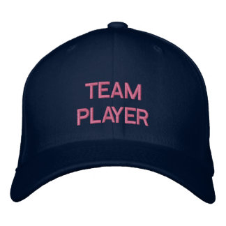 'TEAM PLAYER'  CAP EMBROIDERED BASEBALL CAP