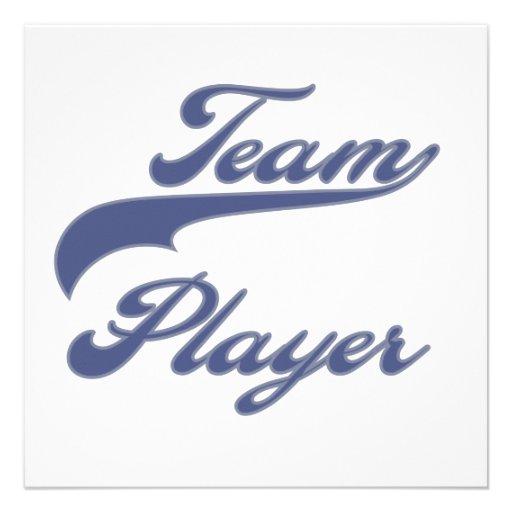 Team Player Tshirts and Gifts Custom Invitations