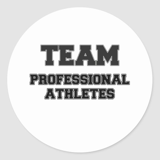 Team Professional Athletes Round Stickers