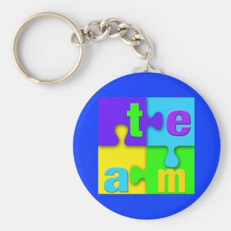 Team Puzzle Keychain