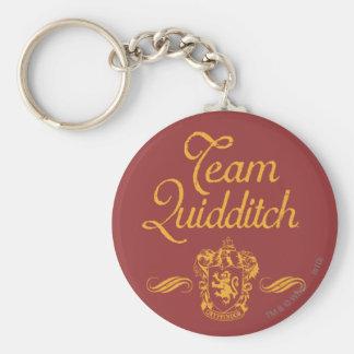 Team Quidditch Basic Round Button Key Ring