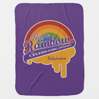 Team Rainbow custom baby blanket