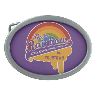 Team Rainbow custom belt buckle