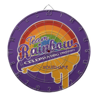 Team Rainbow custom dart board