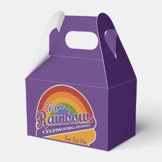 Team Rainbow custom favor box