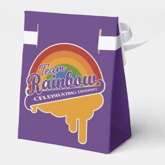 Team Rainbow custom favor boxes