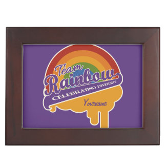 Team Rainbow custom keepsake box