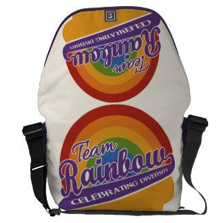 Team Rainbow custom messenger bag