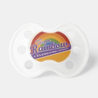 Team Rainbow custom pacifier