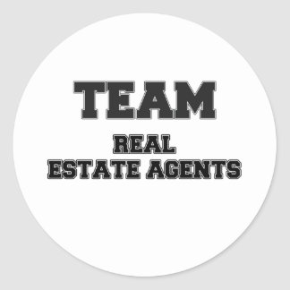 Team Real Estate Agents Round Stickers