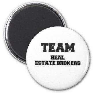 Team Real Estate Brokers 6 Cm Round Magnet