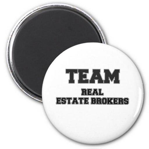 Team Real Estate Brokers Refrigerator Magnet