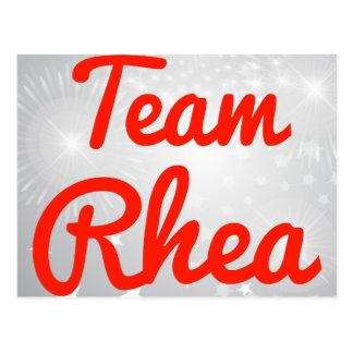 Team Rhea Postcard