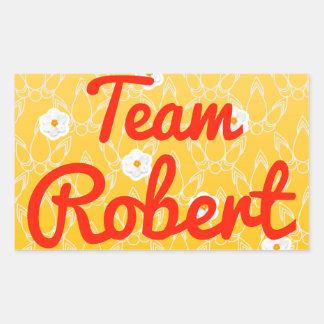 Team Robert Rectangle Stickers