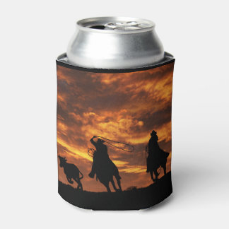 Team Roping Can Cooler